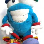 1996 Atlanta olympic mascot, Whatizit, plush height 37 cm