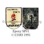 56_05 Albertville 1992 pin's fournisseur officiel Bose époxy argent endos multiple SP#1 © COJO 1991