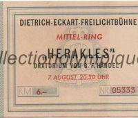 1936 Berlin billet d'entrée au théâtre durant les Jeux Olympiques, espace culturel