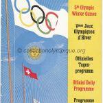 1948 St. Moritz olympic daily program