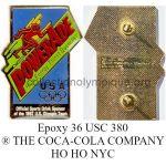 36_12 pin's club TOP Powerade époxy signé 36 USC 380 ® THE COCA-COLA COMPANY fabriqué par HO HO NYC