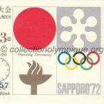 1972 Sapporo billet olympique cérémonie ouverture recto