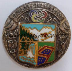 1968 Grenoble médaille Uriage - Chamrousse, uniface