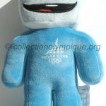 2006 Torino olympic mascot, Gliz the ice cube, plush height 22 cm