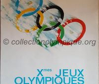 1968 Grenoble official Olympic poster signed Jean Brian 95.5 x 62.5 cm