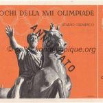 1960 Rome billet olympique cérémonie ouverture recto