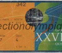 2000 Sydney billet d'entrée olympique session handball