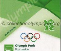 2012 Londres billet d'entrée au parc olympique du 28 Juillet
