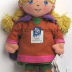 1994 Lillehammer olympic mascot, Kristin the princess, plush height 19 cm