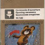 1980 Moscou programme olympique cérémonie ouverture