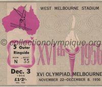 1956 Melbourne billet d'entrée olympique session gymnastique