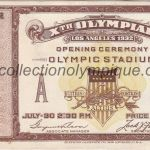 1932_los_angeles_billet_olympique_ceremonie_ouverture_recto