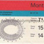 1976 Montréal billet olympique cérémonie ouverture recto
