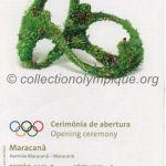 2016 Rio olympic ticket opening ceremony recto