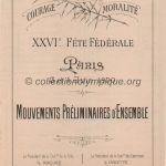 1900 Paris olympic daily program gymnastics
