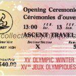 1988 Calgary olympic ticket opening ceremony recto