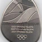 2016 Rio médaille olympique de participant recto, cuivre et nickel - athlètes, officiels et media - 54,2 x 44,6 mm