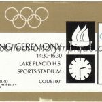1980 Lake Placid olympic ticket opening ceremony recto
