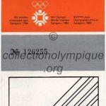 1984 Sarajevo billet olympique cérémonie ouverture recto
