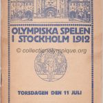 1912 Stockholm olympic daily program