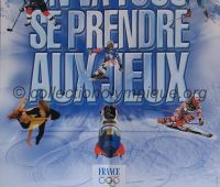 2002 Salt Lake City Olympic Poster french Team 40 x 60 cm