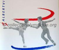 1992 Albertville Olympic poster figure skating 54 X 80 cm