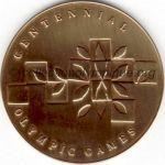 1996 Atlanta médaille olympique participant recto, bronze - athlètes et officiels - 60 mm - 60 000 ex. - designer Malcom GEAR