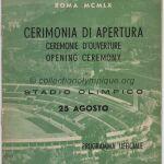 1960 Rome programme olympique cérémonie ouverture