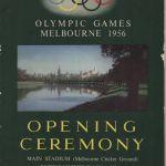 1956 Melbourne programme olympique cérémonie ouverture