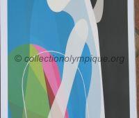 2006 Torino Olympic Poster Biathlon 42 x 29.5 cm