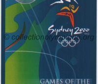 2000 Sydney billet d'entrée olympique session équitation