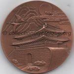 1988 Séoul médaille olympique de participant recto, bronze - athlètes et officiels - 60 mm - 20 400 ex. - designer Kim KWANG-HYUN