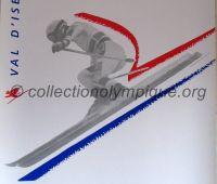 1992 Albertville Olympic poster Downhill skiing men 54 X 80 cm