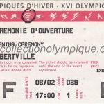 1992 Albertville olympic ticket opening ceremony recto