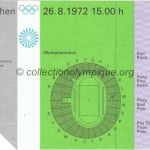1972 Munich olympic ticket opening ceremony recto