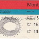 1976 Montreal olympic ticket opening ceremony recto