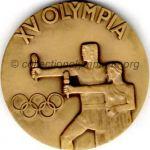 1952 Helsinki médaille olympique participant recto, bronze - athlètes et officiels - 54 mm - 14 000 ex. - designer Kauko RÄSÄNEN