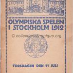 1912 Stockholm programme olympique journalier