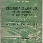 1960 Rome olympic opening ceremony program