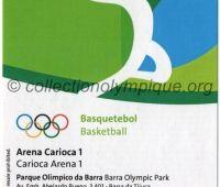 2016 Rio billet d'entrée olympique session basketball du 12 Août