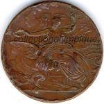 1896 Athènes médaille olympique de participant recto bronze - athlètes - 50 mm20 000 ex. - designer N. LYTRAS