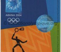 2004 Athènes billet d'entrée olympique session badminton du 21 Août