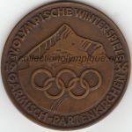 1936 Garmisch-Partenkirchen médaille olympique participant recto