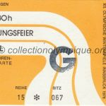 1976 Innsbruck olympic ticket opening ceremony recto