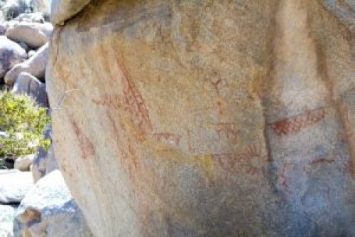 The pictographs from the Kumeyaay Indians. What do you think they mean?