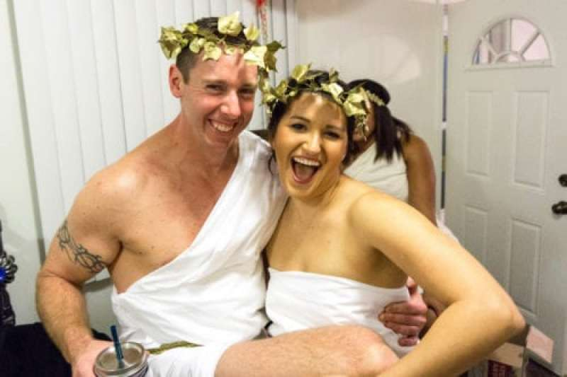 diy gold toga party crown