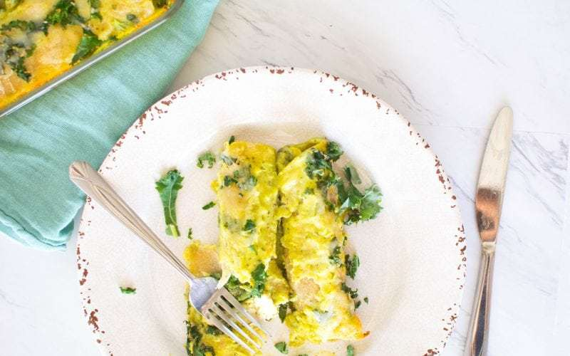 Kale Chicken Enchiladas
