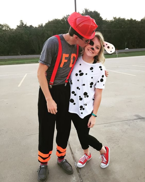 Dalmation & firefighter DIY Costume