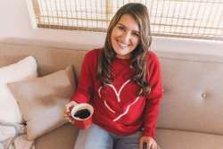 DIY Heart Sweatshirt