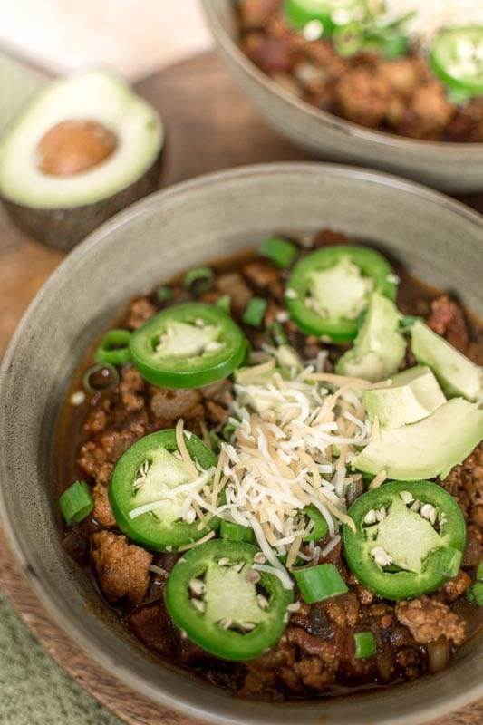 low carb turkey chili
